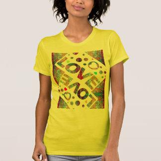 Love Heart Mexicana Motif T-Shirt