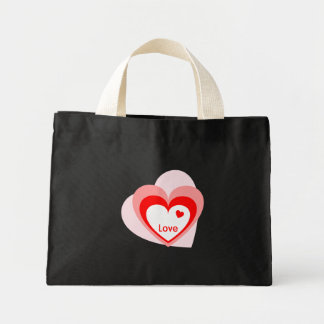 Love Heart Mini Tote Bag