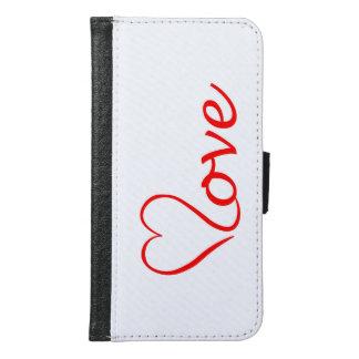 Love heart on white background samsung galaxy s6 wallet case