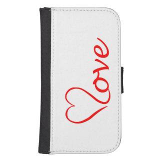 Love heart on white background samsung s4 wallet case