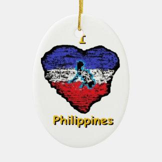love heart philippines ceramic oval decoration