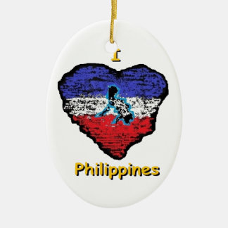 love heart philippines christmas ornament