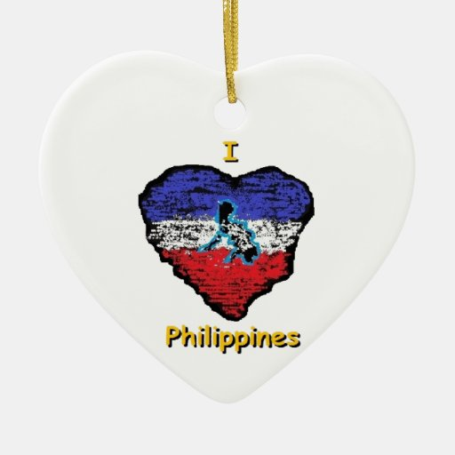 Love Heart Philippines Double-Sided Heart Ceramic
