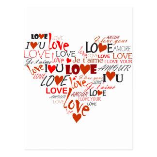 Love Heart Postcard