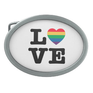 Love Heart Pride Belt Buckle