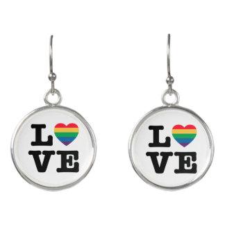 Love Heart Pride Drop Earrings