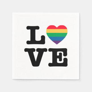 Love Heart Pride Paper Napkins
