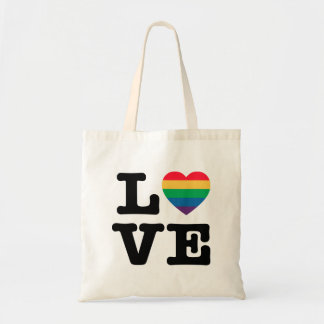 Love Heart Pride Tote Bag
