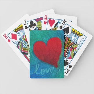 Love Heart Ripples Poker Deck