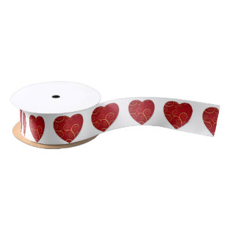 Love heart satin ribbon
