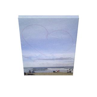 Love heart skyline canvas print