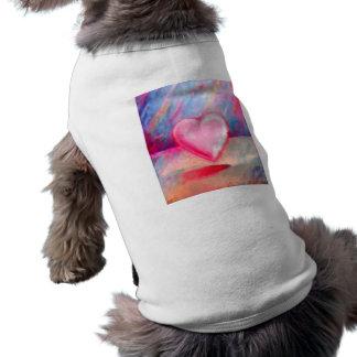 Love Heart Sleeveless Dog Shirt