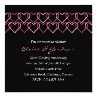 Love Heart Stamp Anniversary Party Invitation