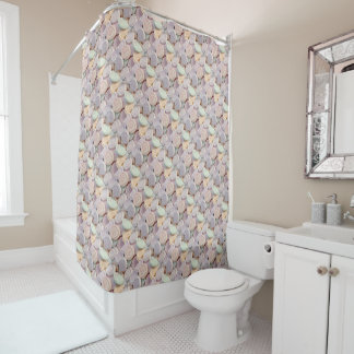 Love heart sweets shower curtain