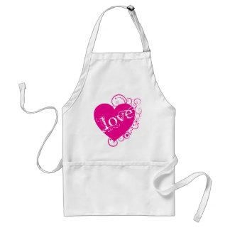 Love Heart Swirl Design Apron