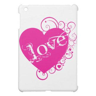 Love Heart Swirl Design Cover For The iPad Mini