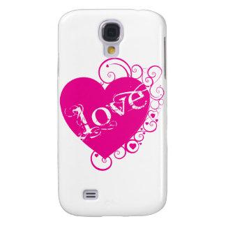 Love Heart Swirl Design Galaxy S4 Case
