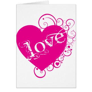 Love Heart Swirl Design Greeting Cards