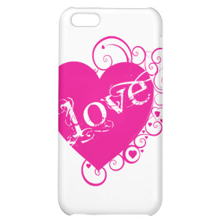 Love Heart Swirl Design iPhone 5C Cover