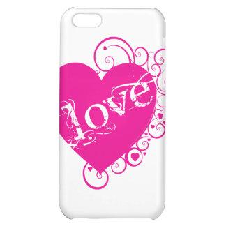 Love Heart Swirl Design iPhone 5C Cover