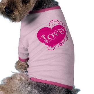Love Heart Swirl Design Pet Tshirt