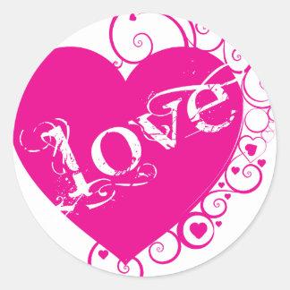 Love Heart Swirl Design Sticker