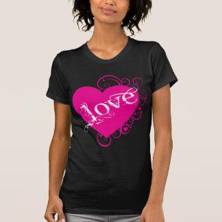 Love Heart Swirl Design T Shirt