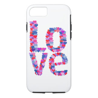 LOVE Heart Text Phone Case