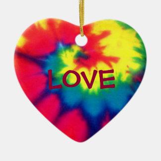 LOVE-Heart Tie Dye Look Ornament