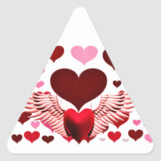 Love,Heart to Heart_ Triangle Stickers
