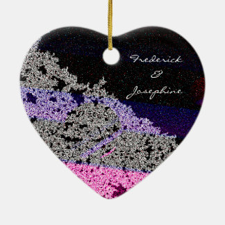 Love Heart Together Forever Christmas Ornament