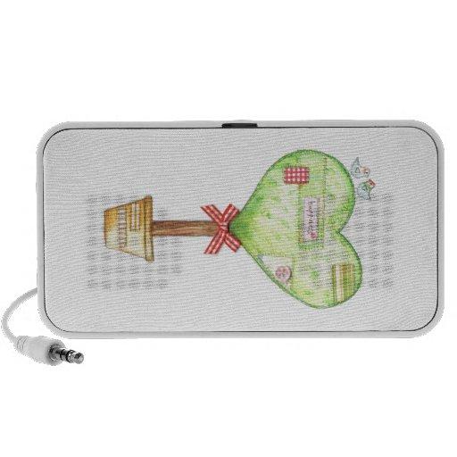 love heart tree design speaker system