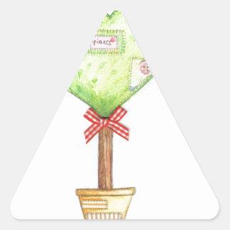 love heart tree design triangle sticker