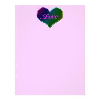 love heart Valentines Flyer Design