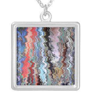 Love Heart Vibrations Square Pendant Necklace