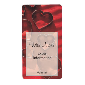 Love Heart Wine Label