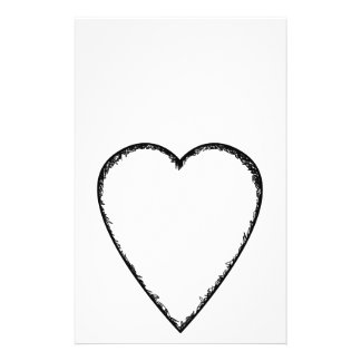 Love Heart with Scribble Edge. Full Color Flyer
