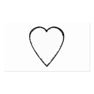 Love Heart with Scribble Edge. Pack Of Standard Business Cards