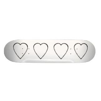 Love Heart with Scribble Edge. Skate Board Deck