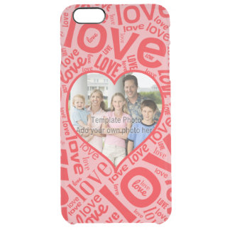 Love heart word art with photo template iPhone 6 plus case