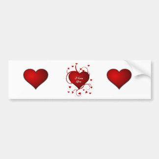Love Hearts Car Bumper Sticker