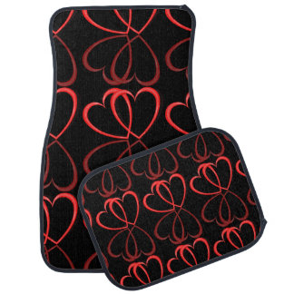 Love hearts. car mat
