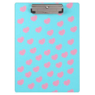 love hearts clipboard