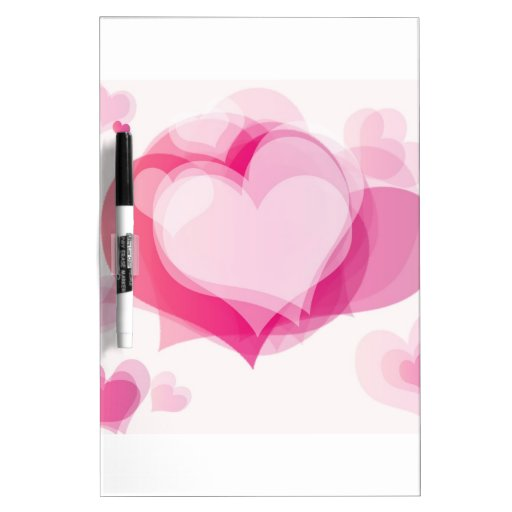 love hearts Dry-Erase whiteboards