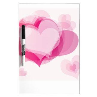 love hearts Dry-Erase boards
