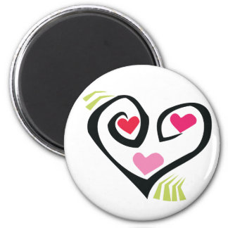 Love Hearts Gifts 6 Cm Round Magnet
