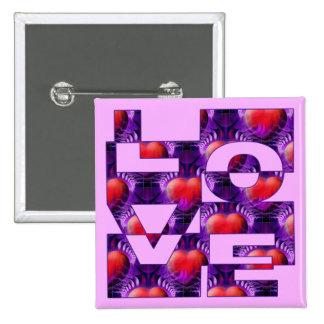 LOVE hearts lightpink Button