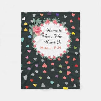 Love Hearts Fleece Blanket