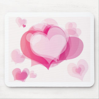 love hearts mouse pads
