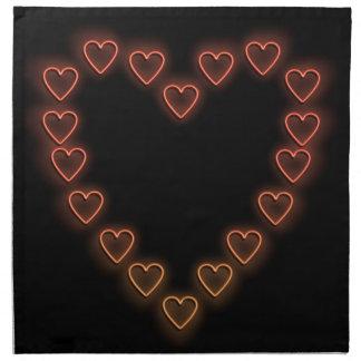 Love hearts. napkin